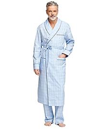 Glen Plaid Overcheck Robe