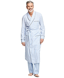 Seersucker Multi Bengal Stripe Robe