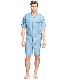 Framed Overcheck Short Pajamas