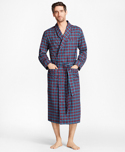 Alternating Plaid Robe