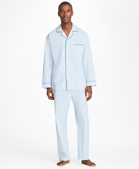 Seersucker Pajamas Blue