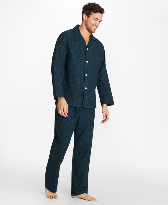 Black Watch Flannel Pajamas Navy-Green