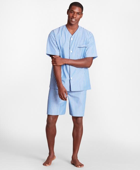 Stripe Short Pajamas Blue