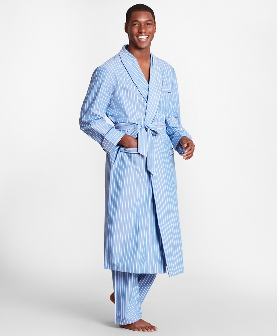 Stripe Robe Blue