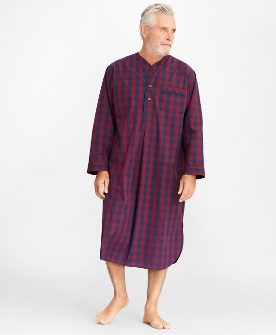 Buffalo Check Nightshirt Wine