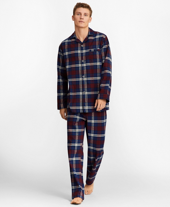 Signature Tartan Flannel Pajamas Wine