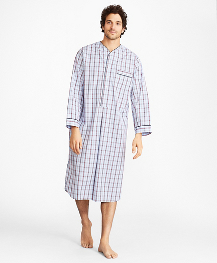 Double-Plaid Nightshirt