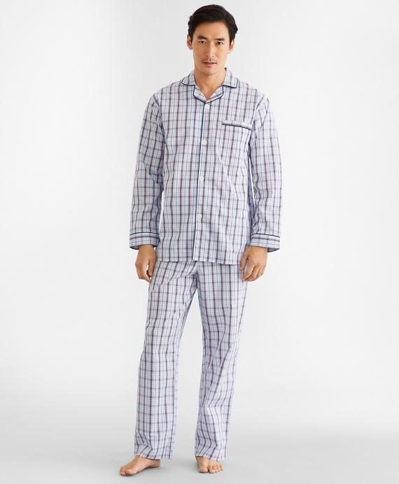 Double-Plaid Pajamas Blue