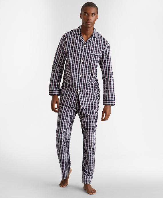 Double-Plaid Pajamas Navy