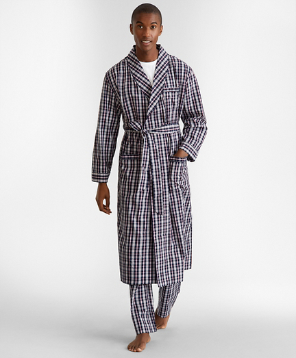 Double-Plaid Robe