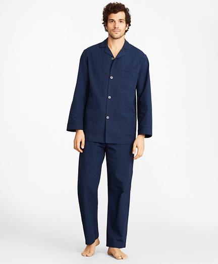 Seersucker Tonal Stripe Pajamas