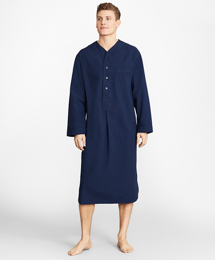 Seersucker Tonal Stripe Nightshirt