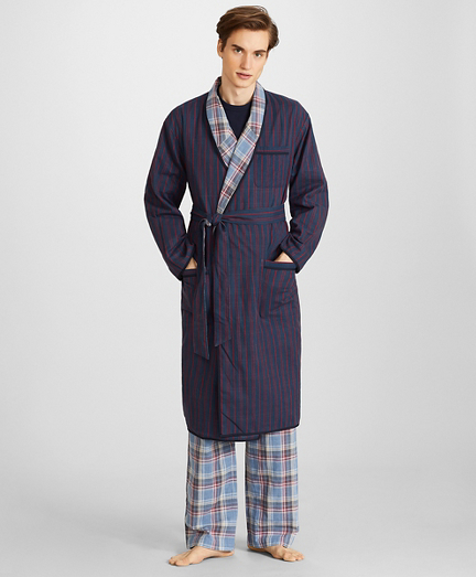 Reversible Plaid Robe
