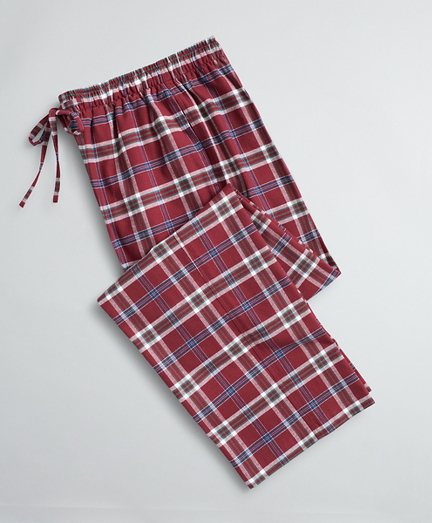 Plaid Cotton Flannel Lounge Pants