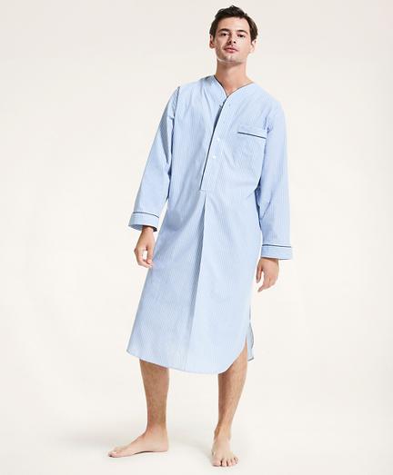 Striped Cotton Broadcloth Nightshirt