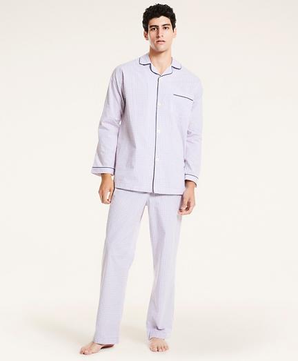 Plaid Cotton Broadcloth Pajamas