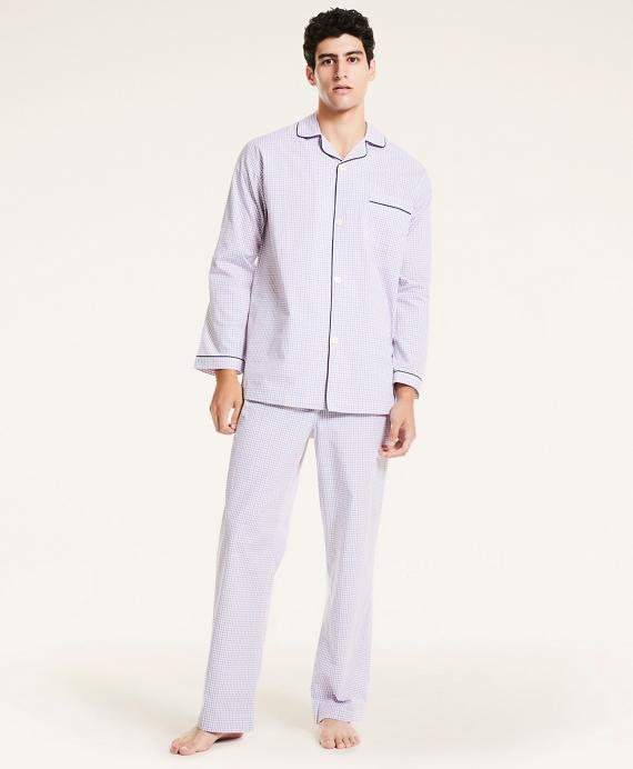 Plaid Cotton Broadcloth Pajamas Red