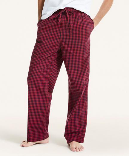 Plaid Cotton Broadcloth Lounge Pants