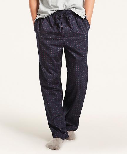 Polka Dot Cotton Broadcloth Lounge Pants