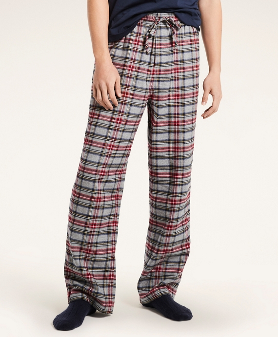 Tartan Flannel Lounge Pants Grey