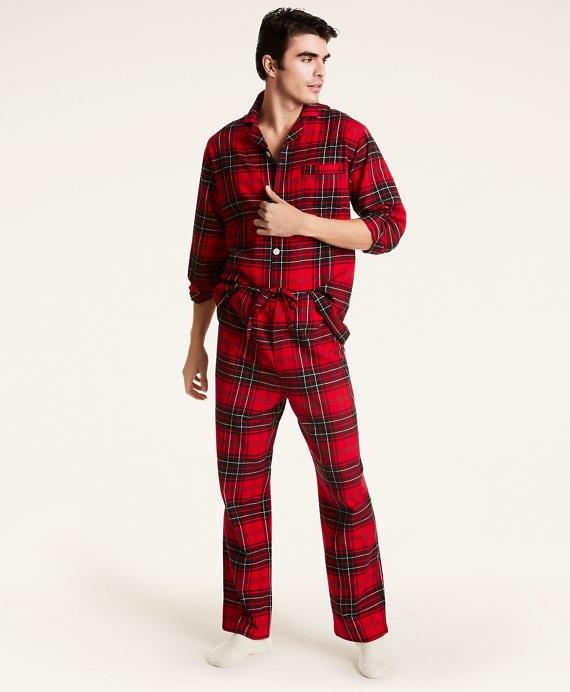 Plaid Flannel Pajamas Red