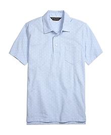 Slim Fit Mini Print Polo Shirt