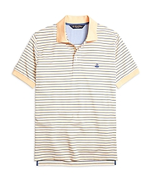 Slim Fit Variegated Stripe Polo Shirt