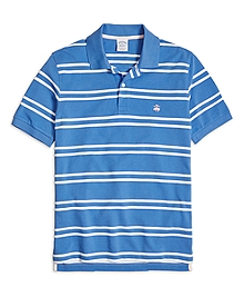 Slim Fit Double Stripe Polo Shirt