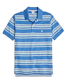 Slim Fit Multi Bar Stripe Polo Shirt