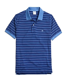 Slim Fit Thin Double Stripe Polo Shirt