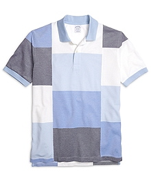 Slim Fit Color-Block Polo Shirt