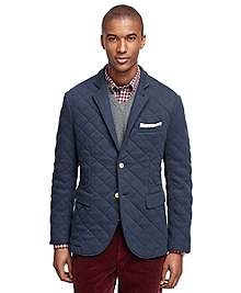 Two-Button Quilted Blazer