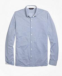 Oxford Knit Button-Down Shirt