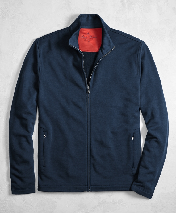 Golden Fleece® BrooksTech™ Merino Wool Performance Full-Zip Navy