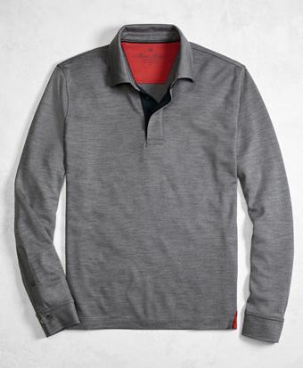 Golden Fleece® BrooksTech™ Performance Interlock Long-Sleeve Polo Shirt
