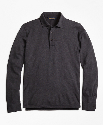 Long-Sleeve Gentleman Polo Shirt