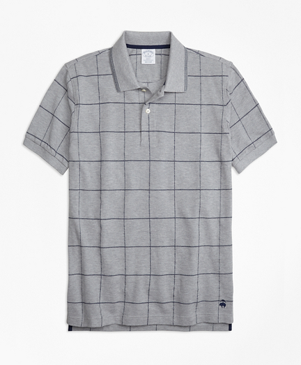 Slim Fit Windowpane Polo Shirt
