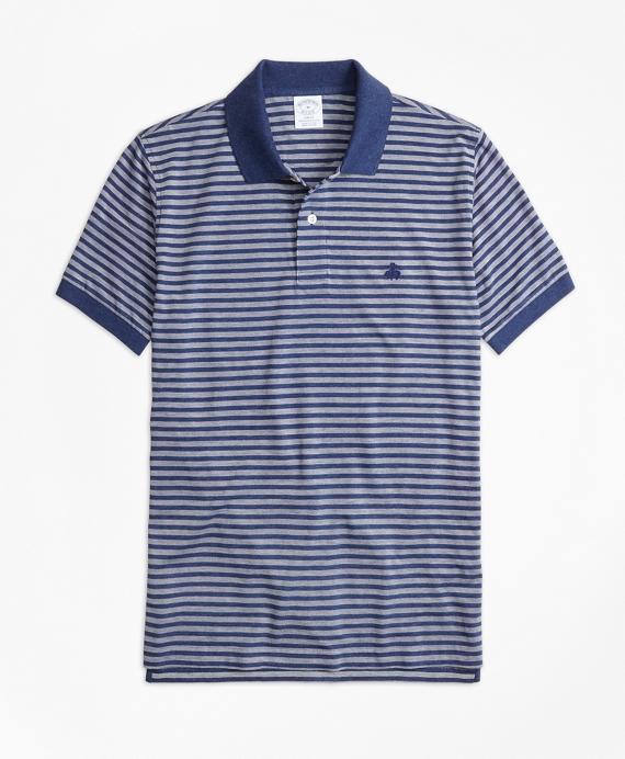 4a9e8298 Slim Fit Oxford Stripe Polo Shirt - Brooks Brothers