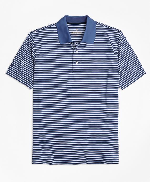 Performance Series Mini-Stripe Polo Shirt Blue
