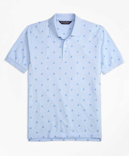 Original Fit Oxford Sailboat Print Polo Shirt
