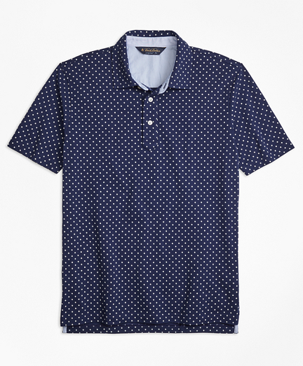 Original Fit Mini-Floral-Print Pique Polo Shirt