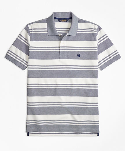 Original Fit Oxford Pique Beach Stripe Polo Shirt
