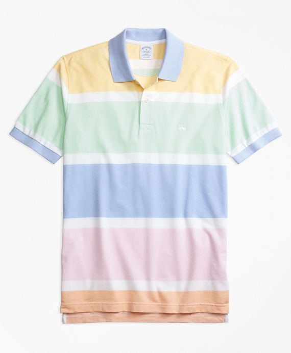 Slim Fit Supima® Cotton Road Map Stripe Polo Shirt Multi