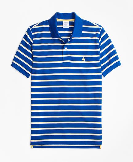 Slim Fit Supima® Cotton Pique  Classic Stripe Polo Shirt