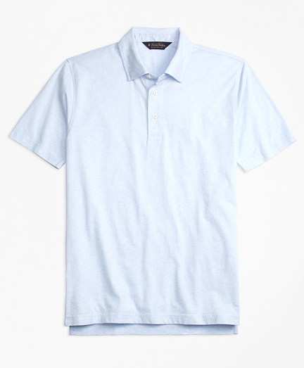 Slim Fit Self-Collar Polo Shirt