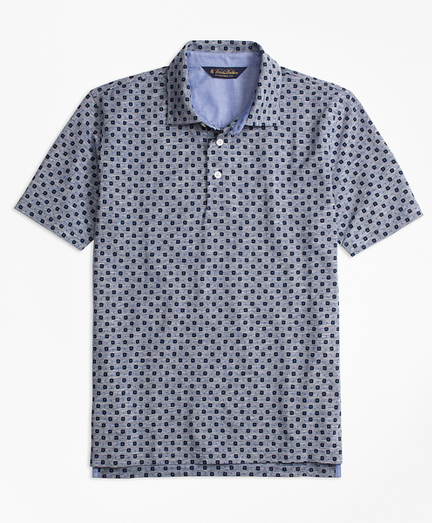 Original Fit Indigo Print Polo Shirt