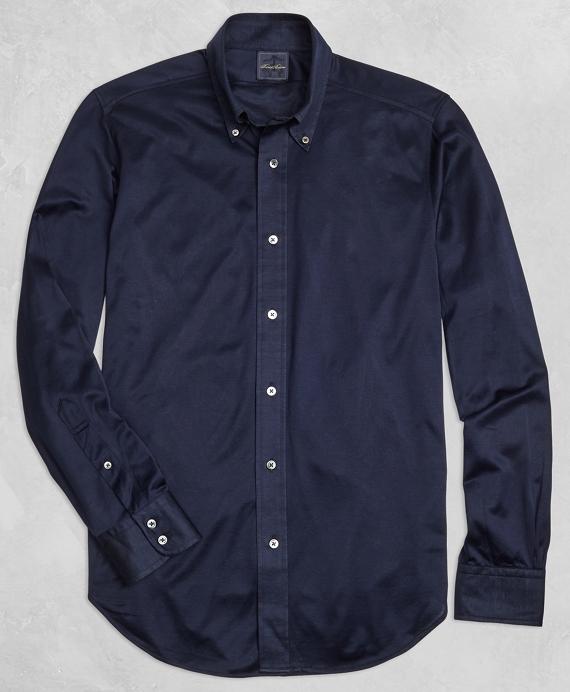 Golden Fleece® Knit Button-Down Shirt Navy