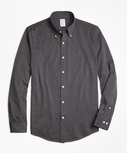 Supima® Cotton Button-Down Knit Shirt