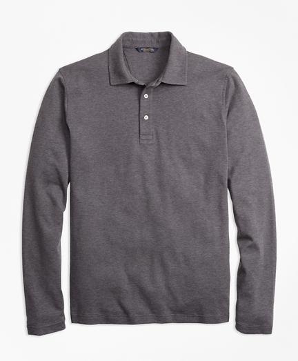Slim Fit Supima® Cotton Long-Sleeve Polo Shirt