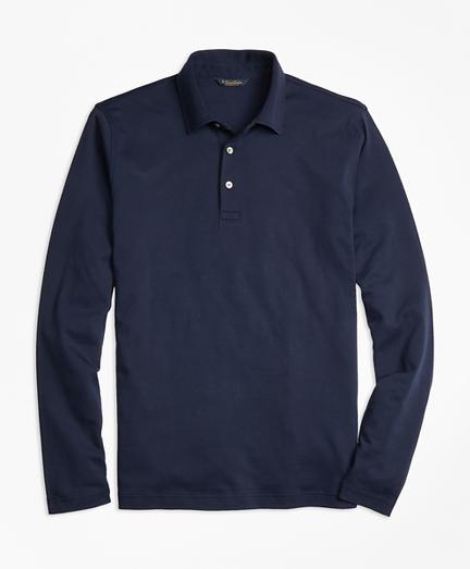 Original Fit Supima® Cotton Long-Sleeve Polo Shirt